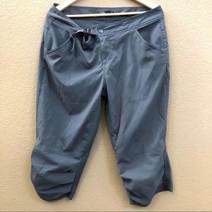 PrAna gray light  weight crop outdoor  pants Sz 14